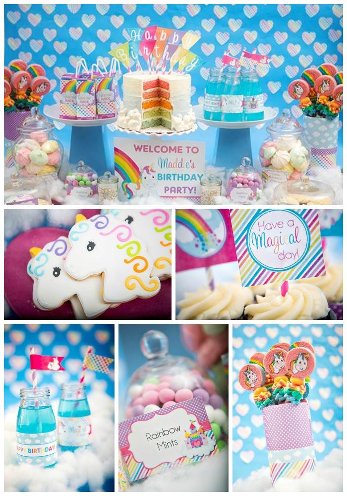 Unicorn And Rainbow Birthday Party Ideas  Rainbow Unicorn Party B Lovely Events