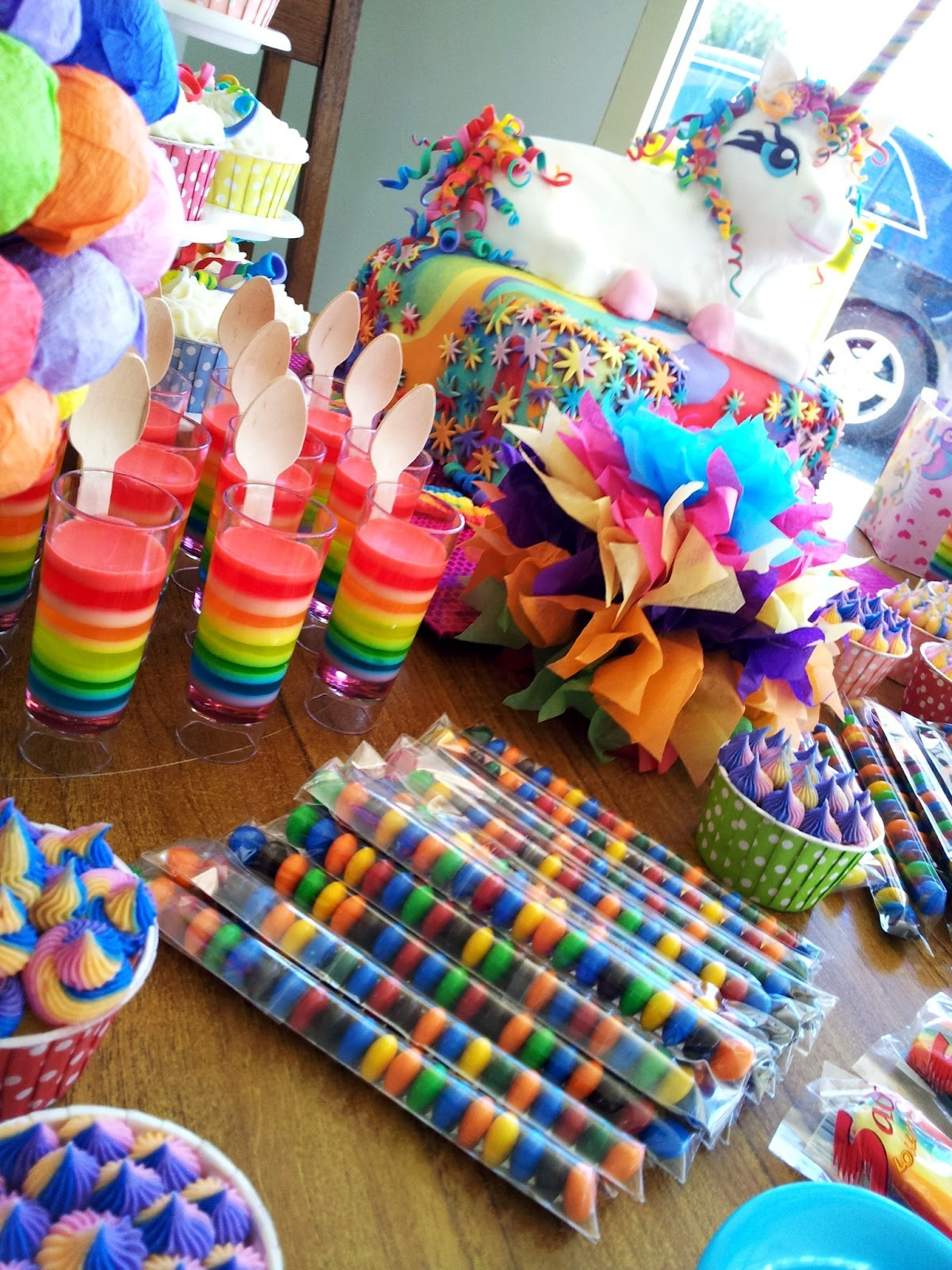 Unicorn And Rainbow Birthday Party Ideas  The Quick Unpick Five FIVE A party rainbows and a