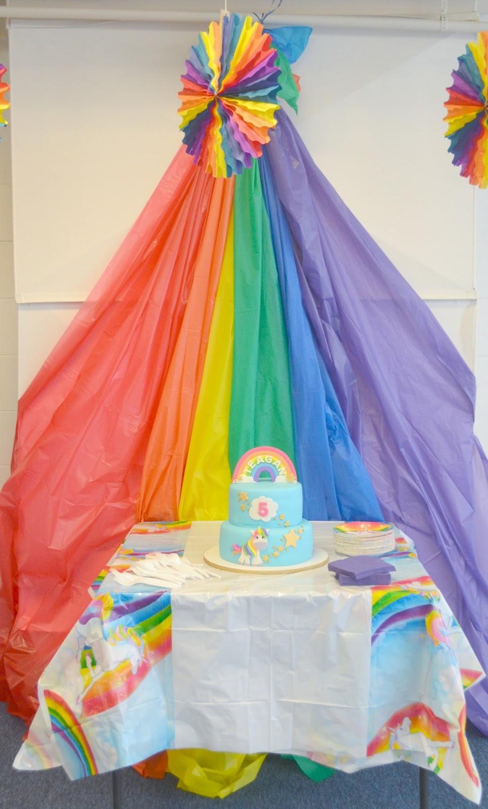 Unicorn And Rainbow Birthday Party Ideas  Throwing A Rainbow Unicorn Birthday Party