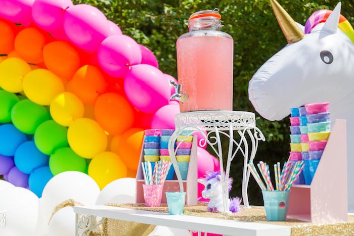 Unicorn And Rainbow Birthday Party Ideas  Kara s Party Ideas Gold Rainbow Unicorn Birthday Party