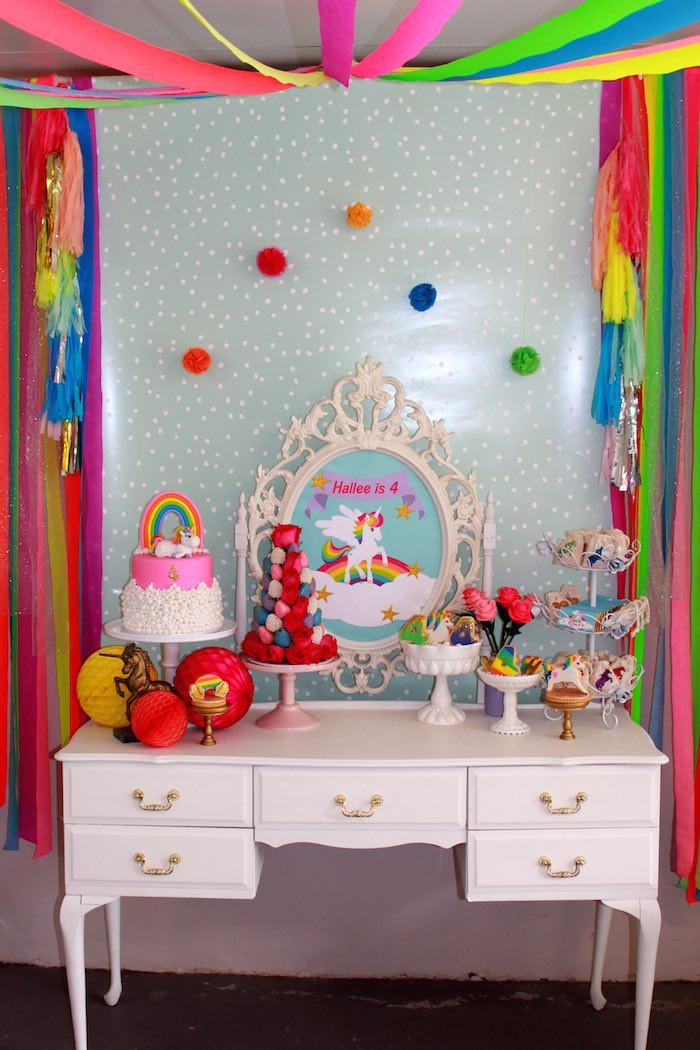 Unicorn And Rainbow Birthday Party Ideas  Kara s Party Ideas Rainbow Unicorn Themed Birthday Party