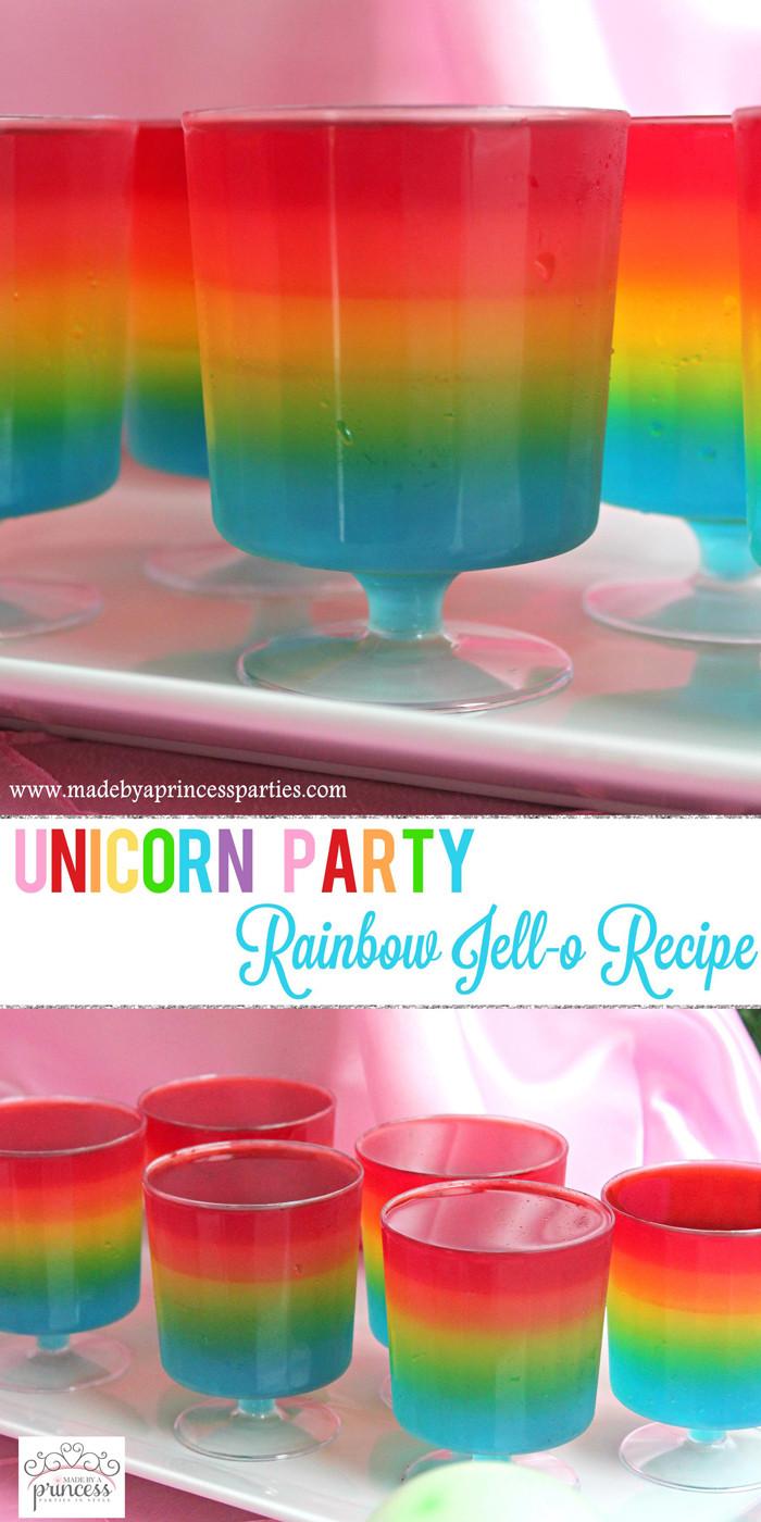 Unicorn And Rainbow Birthday Party Ideas  Unicorn Party Rainbow Jello Recipe
