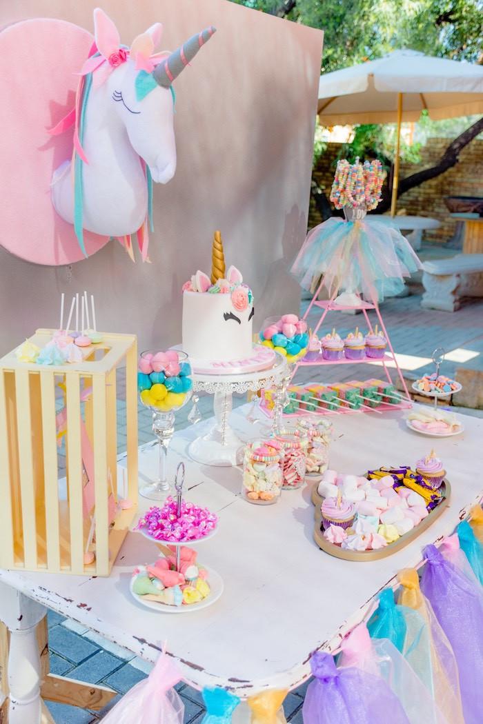 Unicorn And Rainbow Birthday Party Ideas  Kara s Party Ideas Rainbows and Unicorns Birthday Party