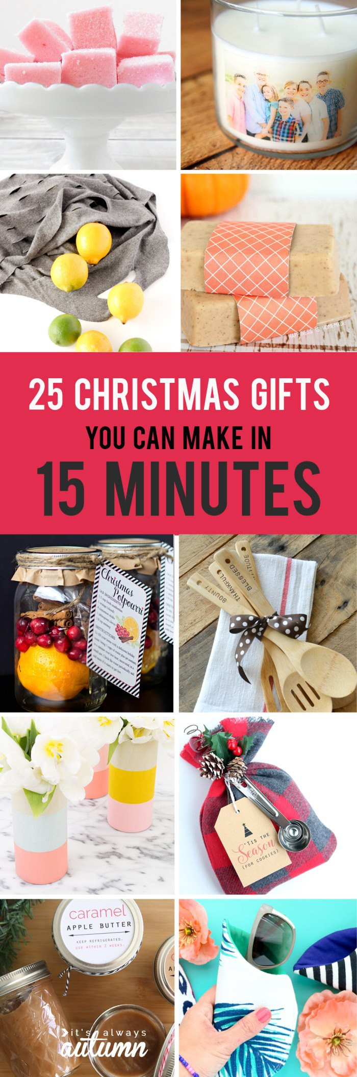 Unique DIY Gifts  25 Easy Christmas Gifts That You Can Make in 15 Minutes