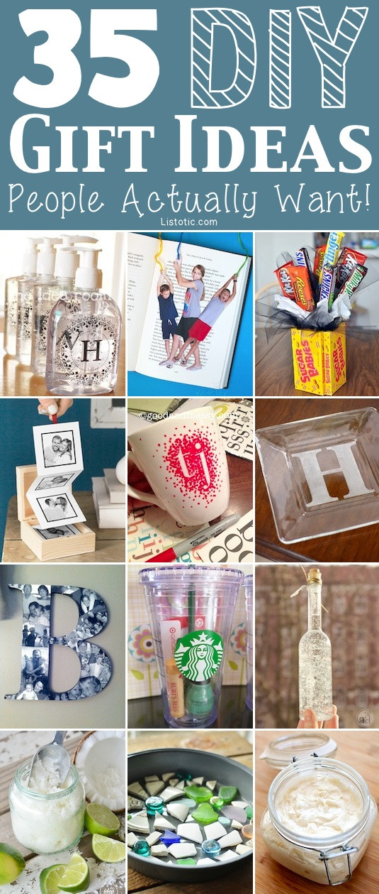 Unique DIY Gifts  35 Easy DIY Gift Ideas People Actually Want for