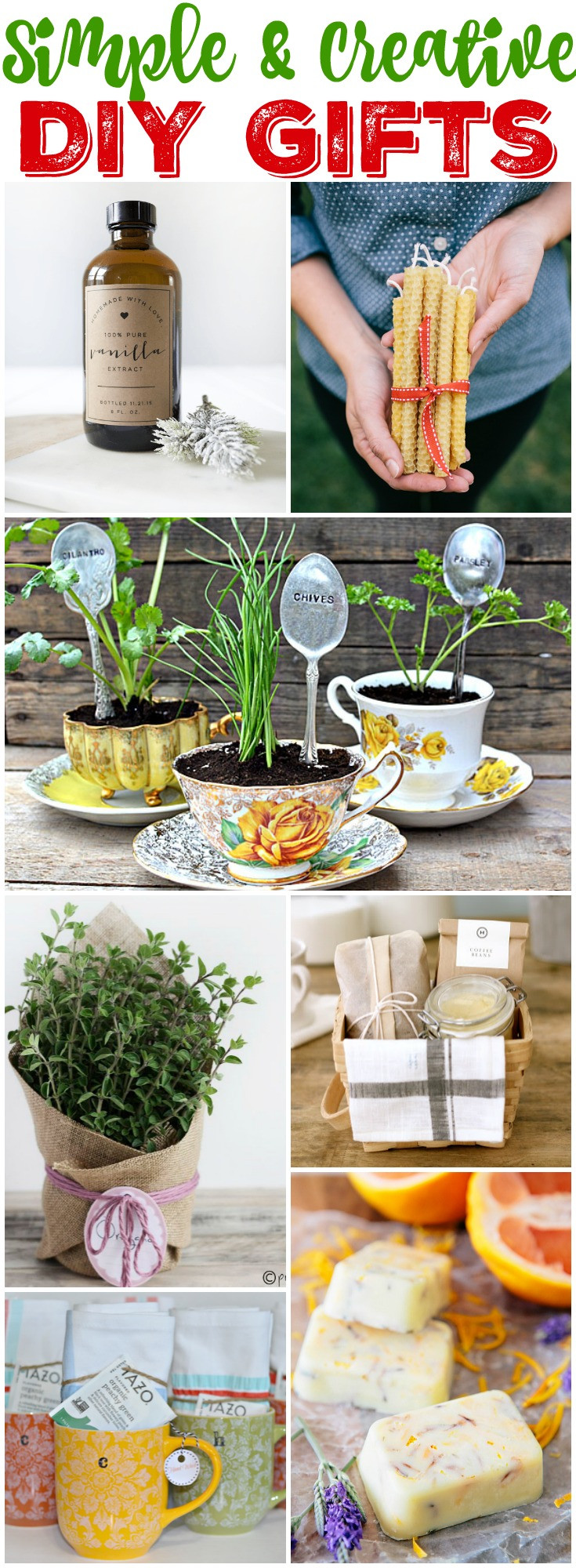 Unique DIY Gifts  25 Simple & Creative DIY Gift Ideas for teachers