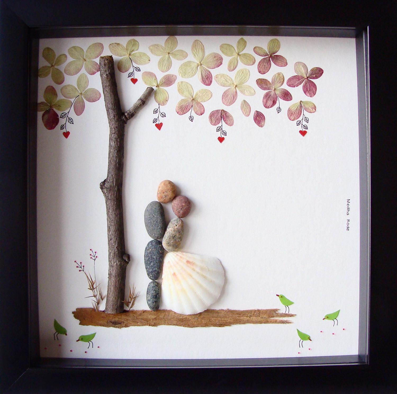 Unique Wedding Gift Ideas For Couple  Unique Wedding Gift For Couple Wedding Pebble Art by MedhaRode
