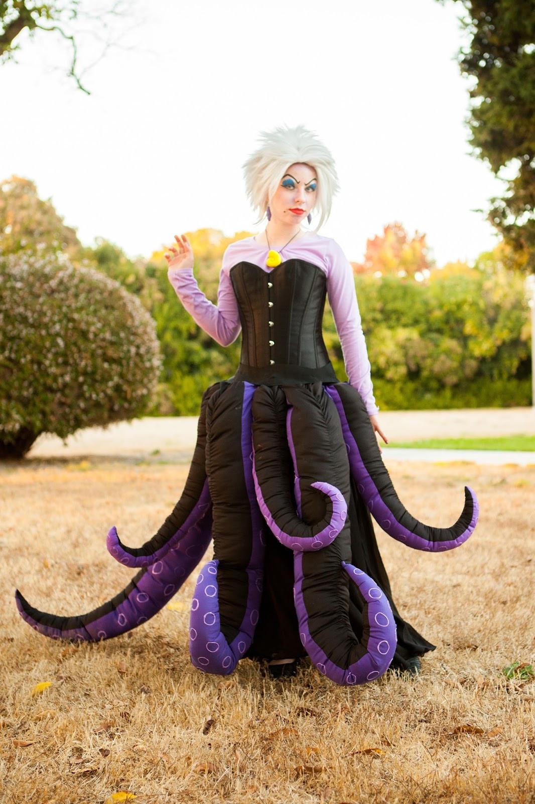 Ursula Costume DIY  Wel e to the Krazy Kingdom Potter Family Halloween 2017