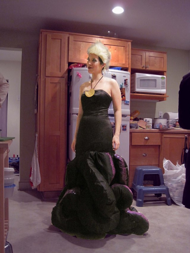 Ursula Costume DIY  Vanessa Ursula Costume Part I The Idea and the Gown