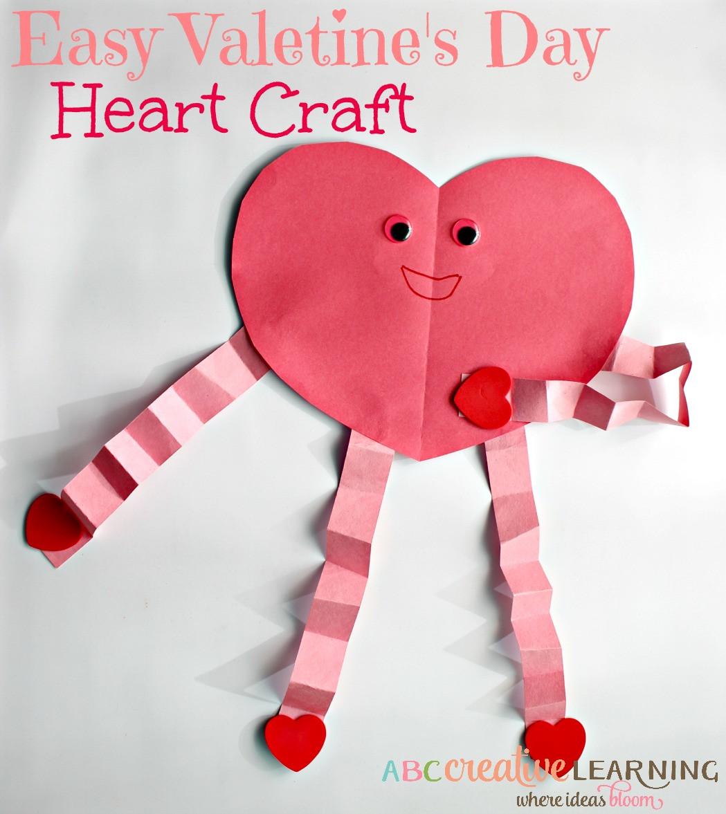 Valentine Children Crafts  Easy and Cute Valentine s Day Heart Craft For Kids