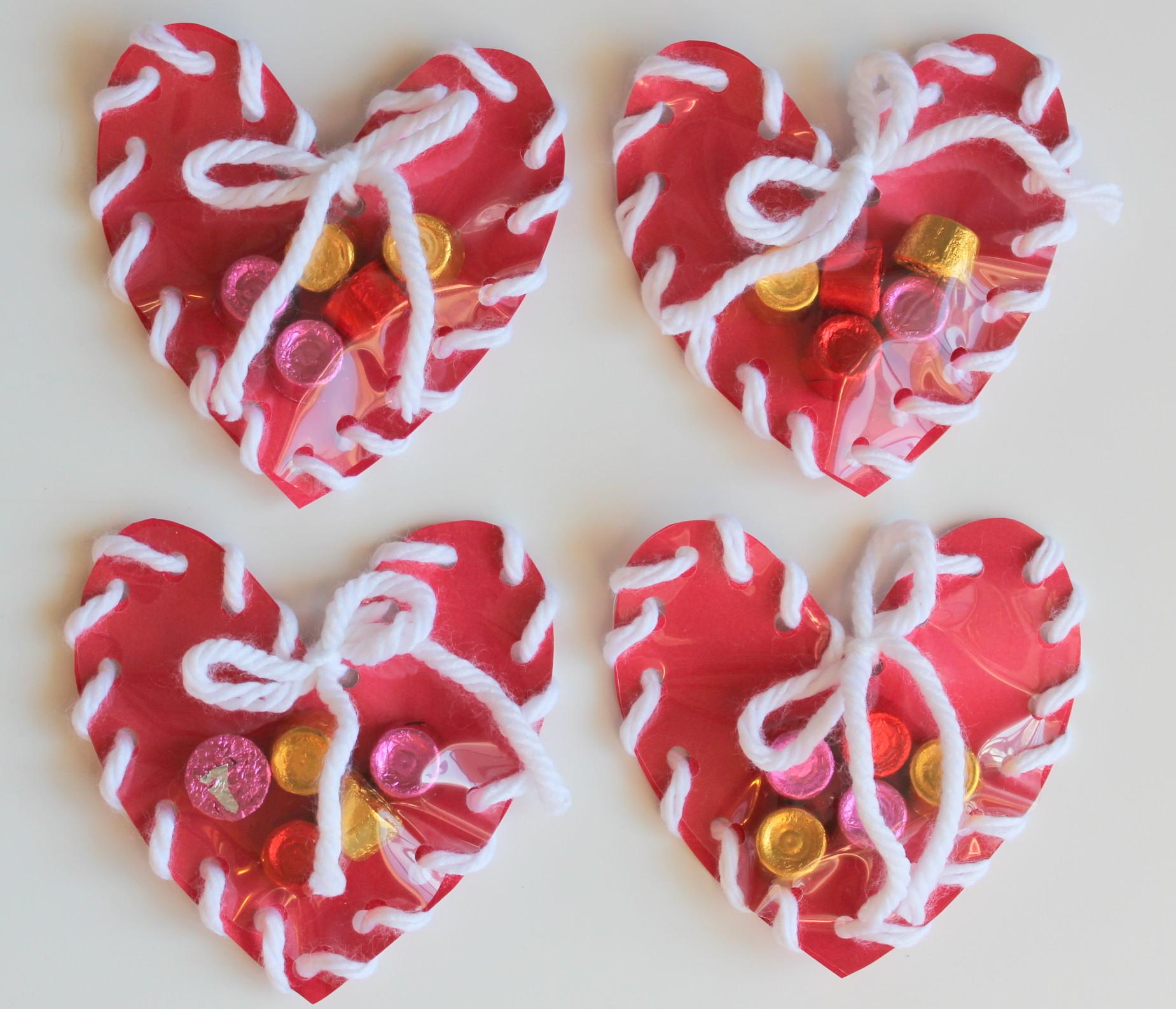 Valentine Children Crafts  Lollydot Hand Sewn Paper Heart Valentine Craft for Kids