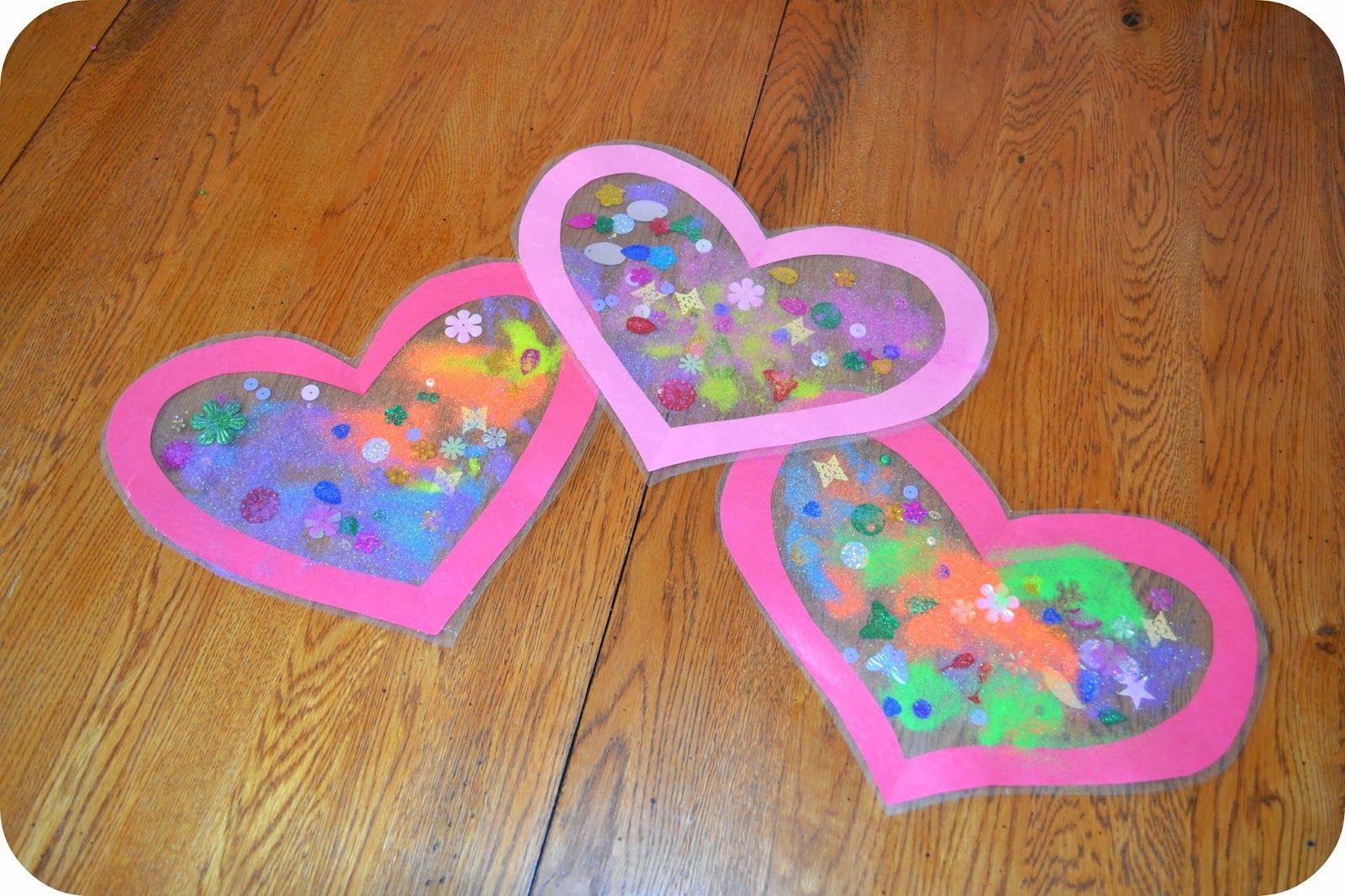 Valentine Day Craft Ideas For Preschoolers  Heart Sun Catcher Valentine s Day Craft