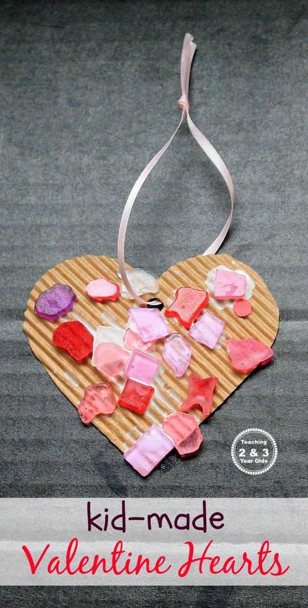 Valentine Day Craft Ideas For Preschoolers  Simple Heart Craft for Preschoolers