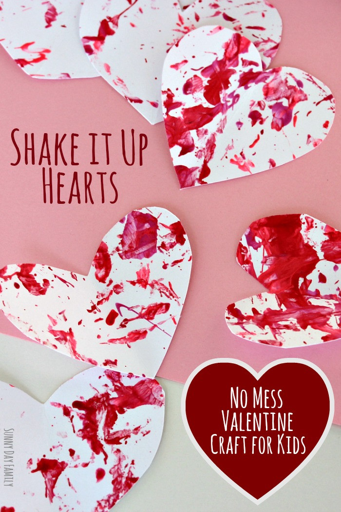 Valentine Day Craft Ideas For Preschoolers  Shake It Up Hearts No Mess Valentine Craft for