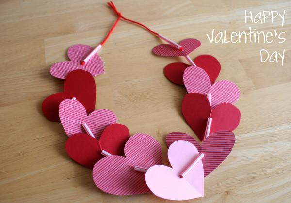 Valentine Day Craft Ideas For Preschoolers  Preschool Crafts for Kids Valentine s Day Heart Necklace