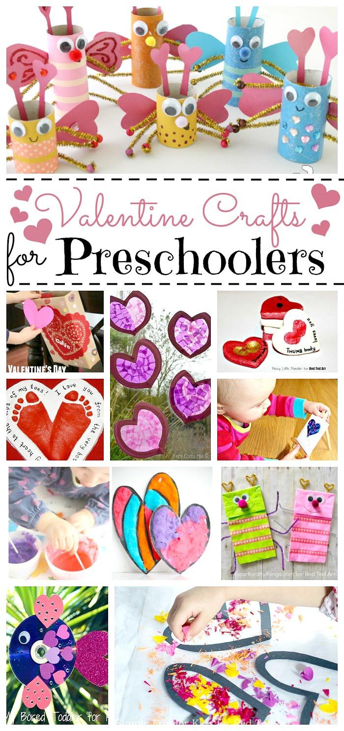 Valentine Day Craft Ideas For Preschoolers  Valentine Crafts for Preschoolers Red Ted Art Make