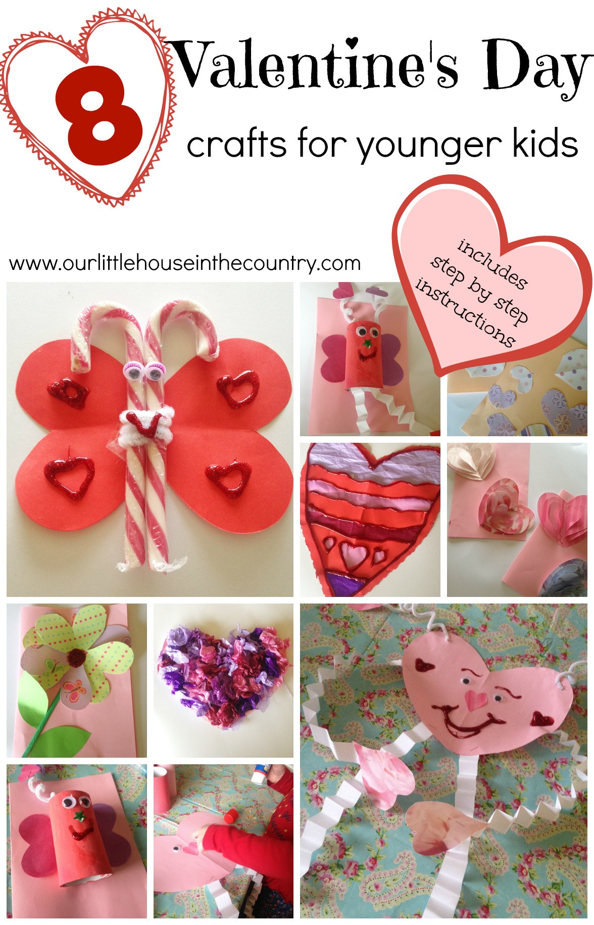 Valentine Day Craft Ideas For Preschoolers  Valentine's Day Crafts for Younger Children Preschool and