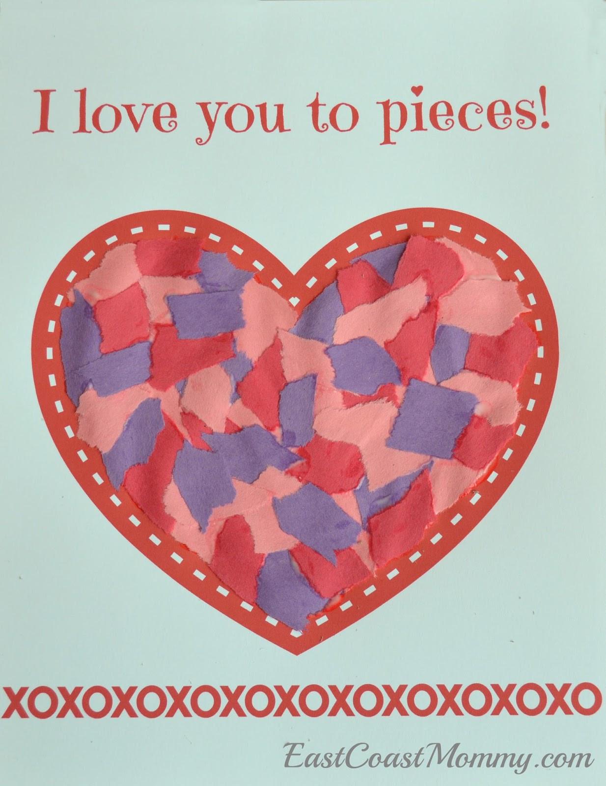 Valentine Day Craft Ideas For Preschoolers  East Coast Mommy Simple Valentine s Day Craft for