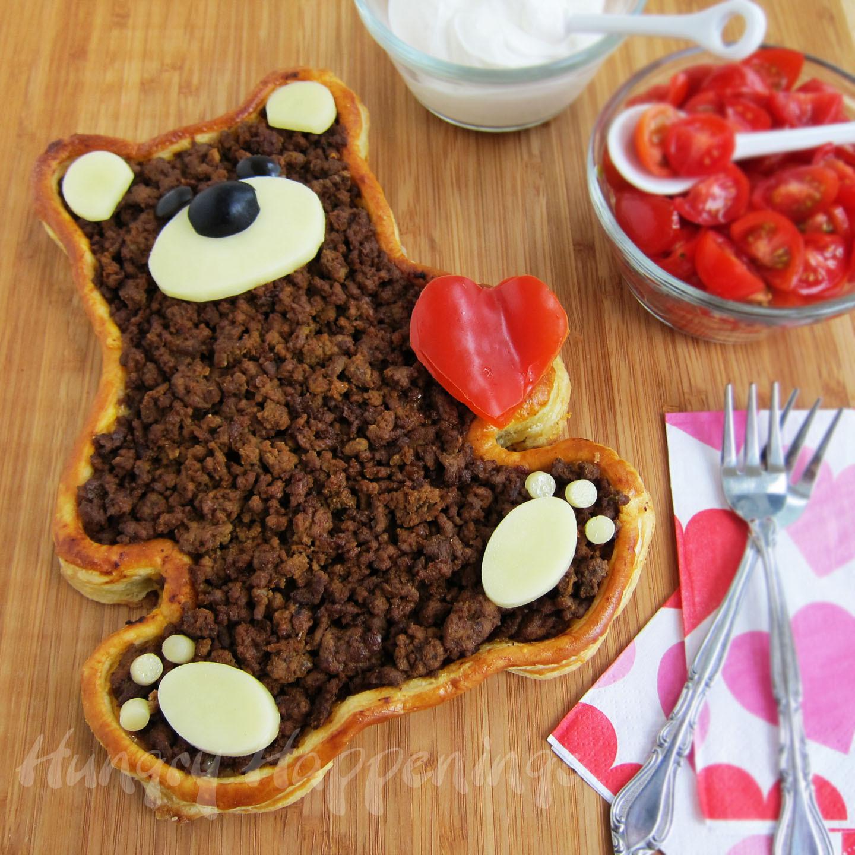 Valentine Dinners For Kids  Teddy Bear Taco Tart Valentine s Day Dinner Hungry