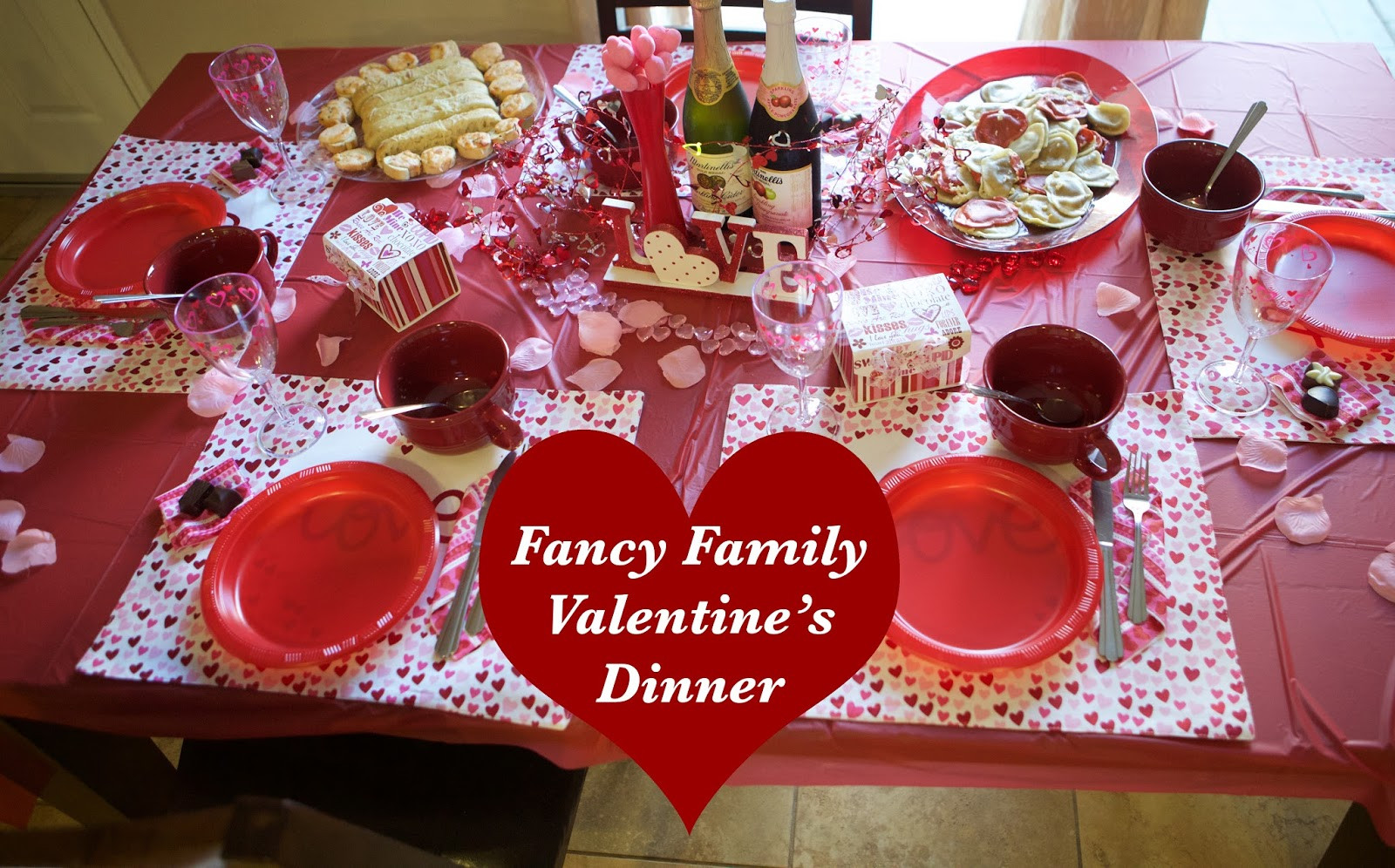 Valentine Dinners For Kids  Emmy Mom e Day at a Time Family Friendly Valentine Dinner