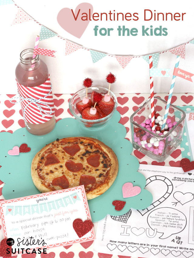 Valentine Dinners For Kids  Valentines Dinner for Kids Ultimate Printable Pack My