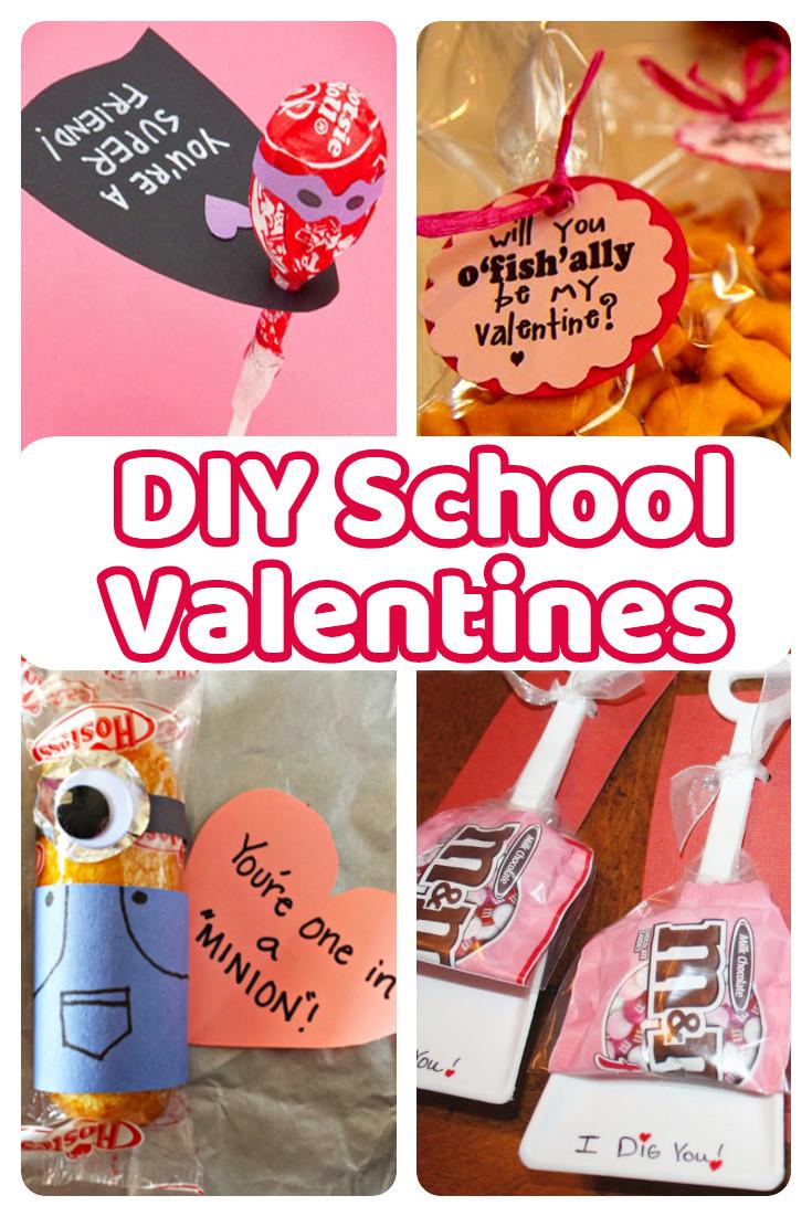 Valentine Gift Ideas For School  DIY School Valentine Cards for Classmates and Teachers