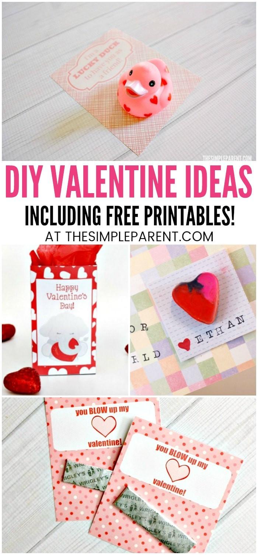 Valentine Gift Ideas For School  Printable Valentines & DIY Valentine Ideas for Kids • The