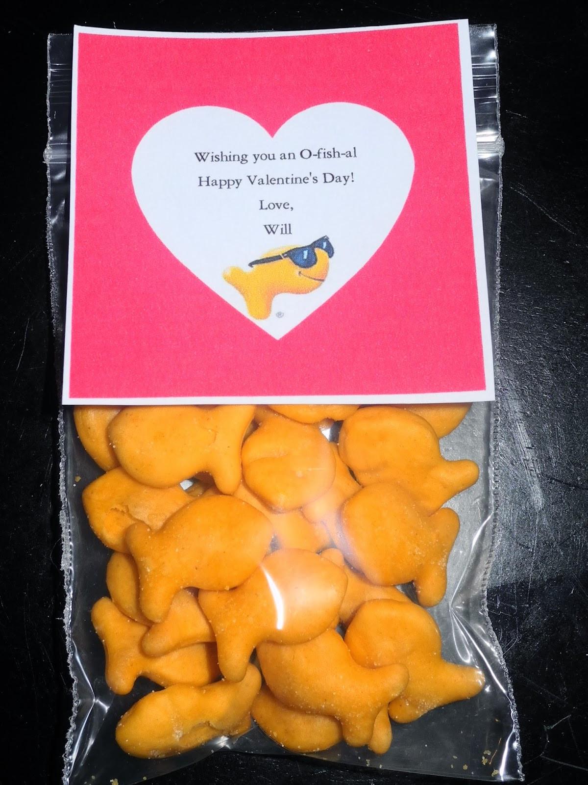 Valentine Gift Ideas For School  Be Different Act Normal 8 Goldfish Cracker Valentine Ideas