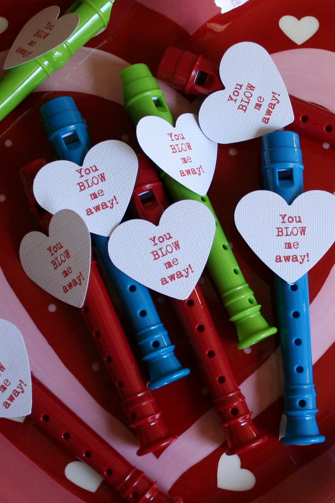 Valentine Gift Ideas For School  Blow Me Away Whistle Valentine Dukes and Duchesses