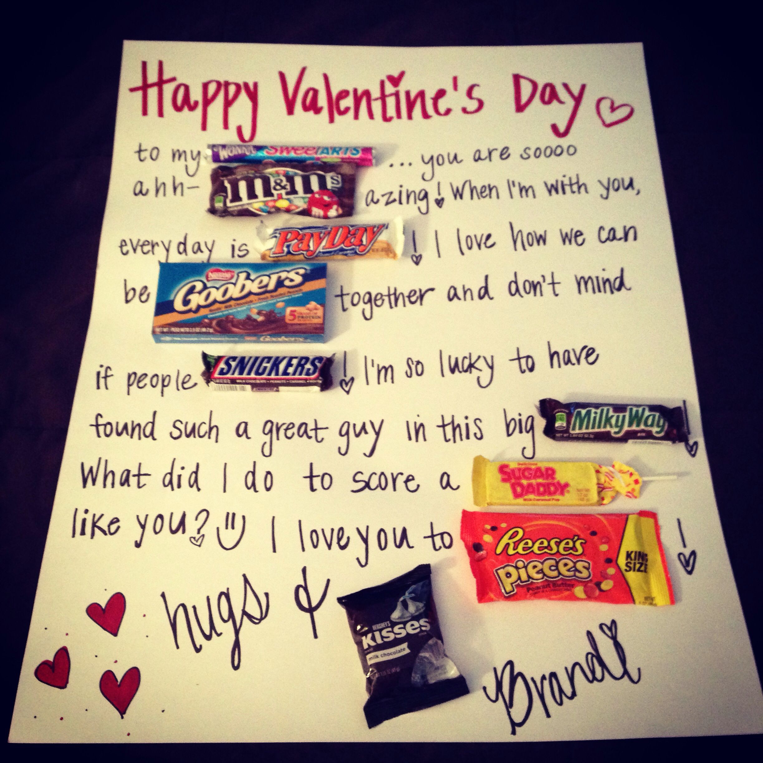 Valentine Gifts For Him DIY  Easy diy valentines t for him Gift Ideas
