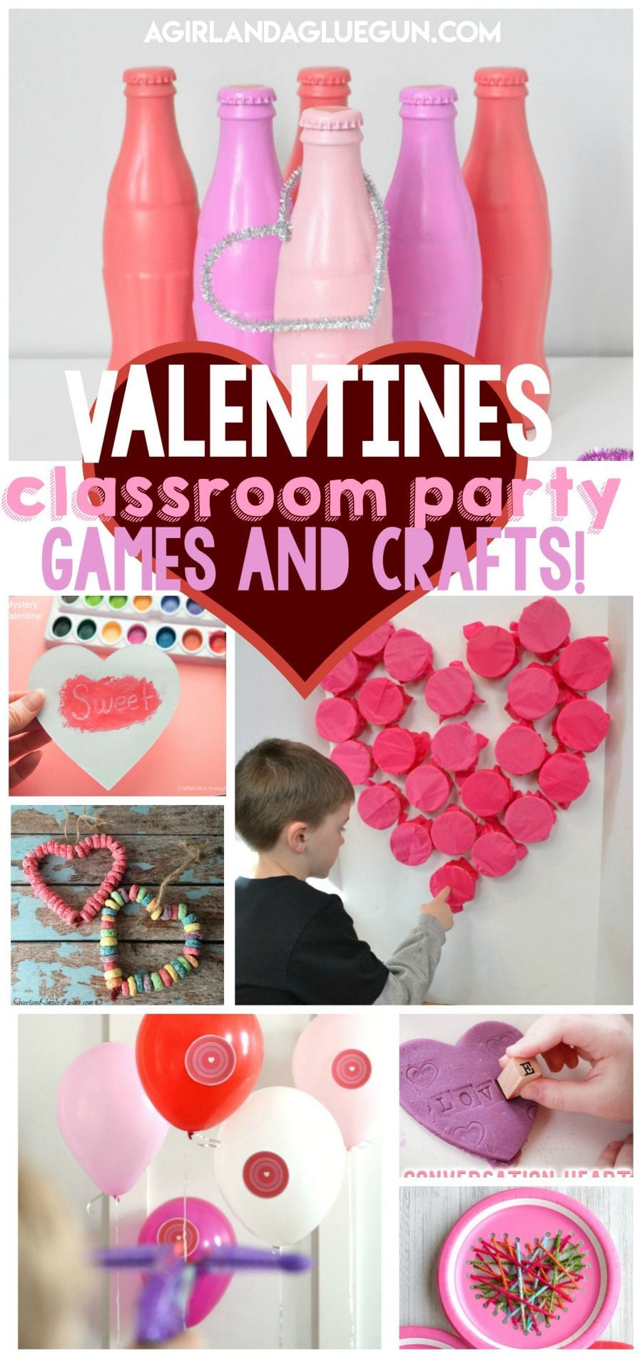 Valentine Party Games For Kids  Valentines games and crafts for Classroom parties A girl