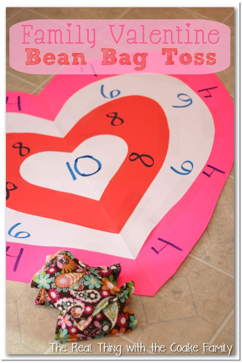 Valentine Party Games For Kids  Activities for the Family Valentine s Bean Bag Toss