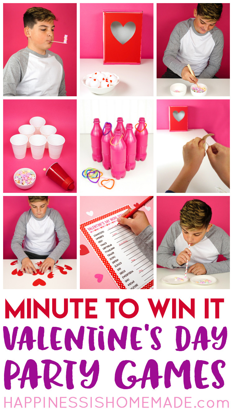 Valentine Party Games For Kids  Valentine Minute to Win It Games Happiness is Homemade