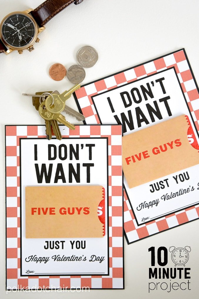Valentine'S Day Gift Card Ideas  Valentine Gifts for Him a Free Printable Gift Card Holder