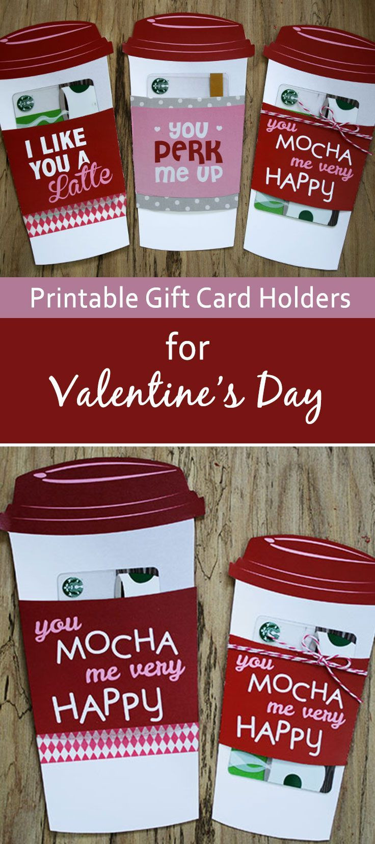 Valentine'S Day Gift Card Ideas  Free Gift Card Holder Latte Valentine Gift Card Holder