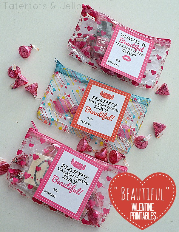 """Valentine'S Day Gift Card Ideas  """"Beautiful"""" Valentine s Day Printables Tween or Teen"""