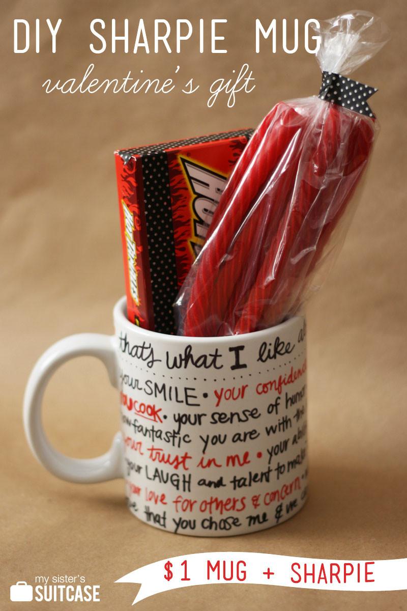 Valentines Day Gifts For Him DIY  DIY Sharpie Mug Valentine Gift My Sister s Suitcase