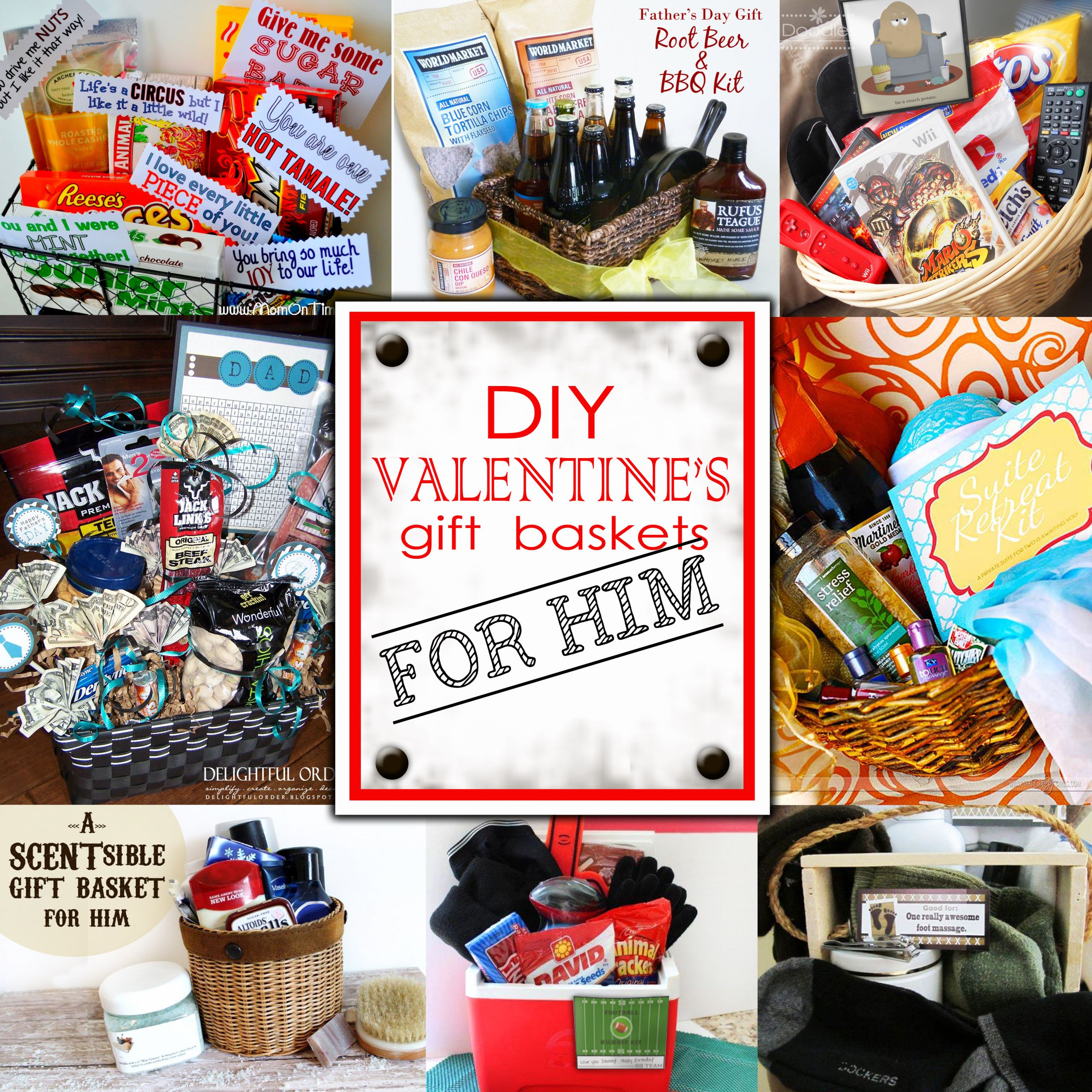 Valentines Day Gifts For Him DIY  DIY Valentine s Day Gift Baskets For Him Darling Doodles