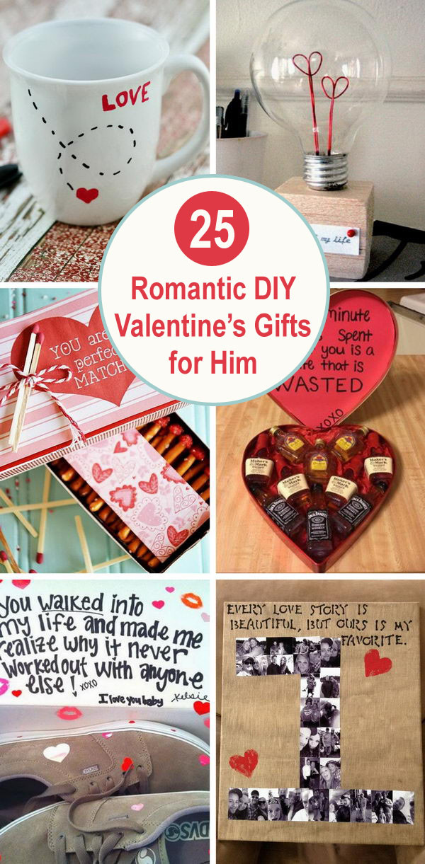Valentines Day Gifts For Him DIY  25 Romantic DIY Valentine s Gifts for Him 2017