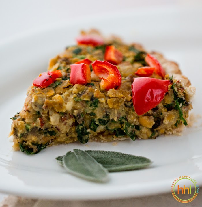 Vegetarian Holiday Main Dishes  Vegan Holiday Main Dish Mushroom Chickpea Hazelnut Tart