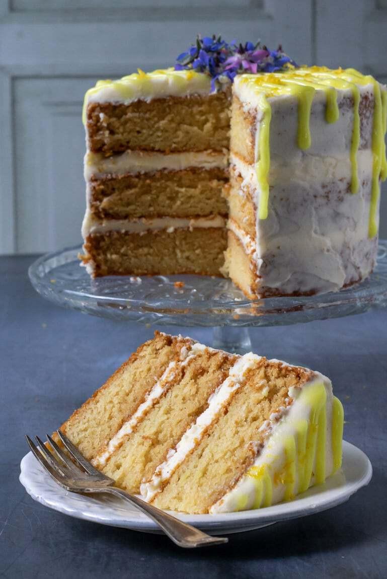 Vegetarian Lemon Cake Recipe  Easy Vegan Lemon Cake Veggie Desserts