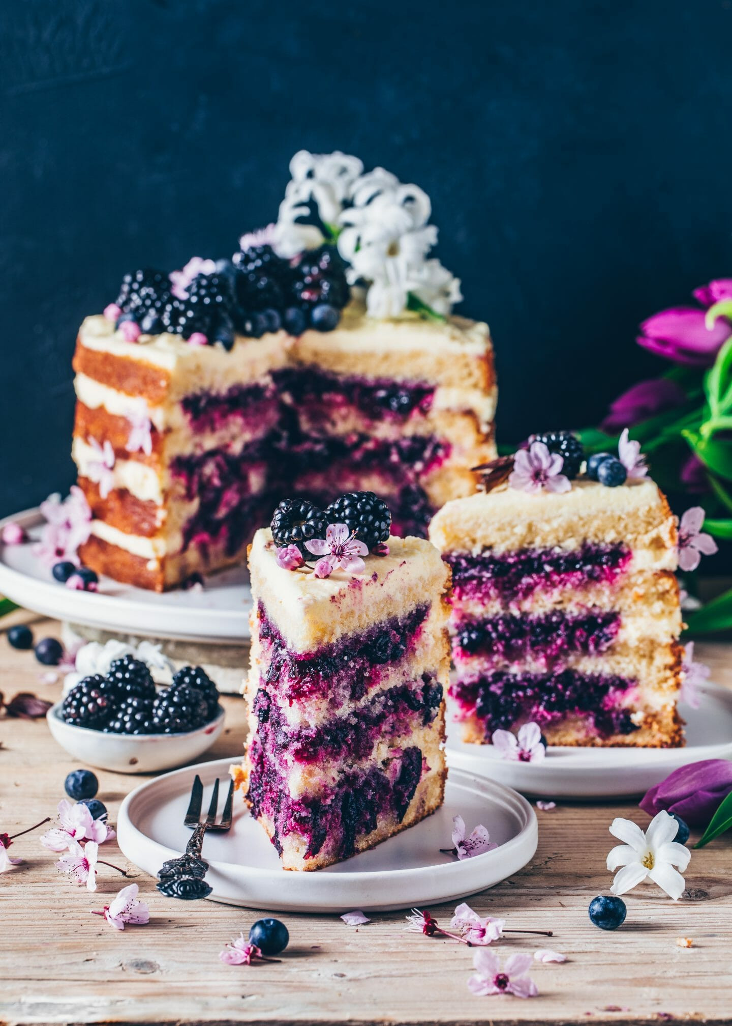 Vegetarian Lemon Cake Recipe  Lemon Blueberry Cake Vegan Layer Cake Bianca Zapatka