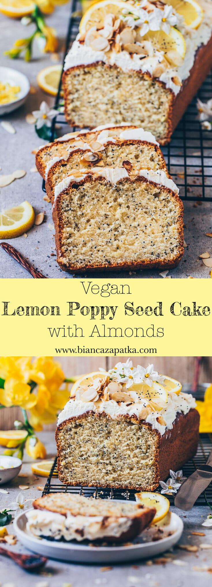 Vegetarian Lemon Cake Recipe  Lemon Poppy Seed Cake Vegan Bianca Zapatka