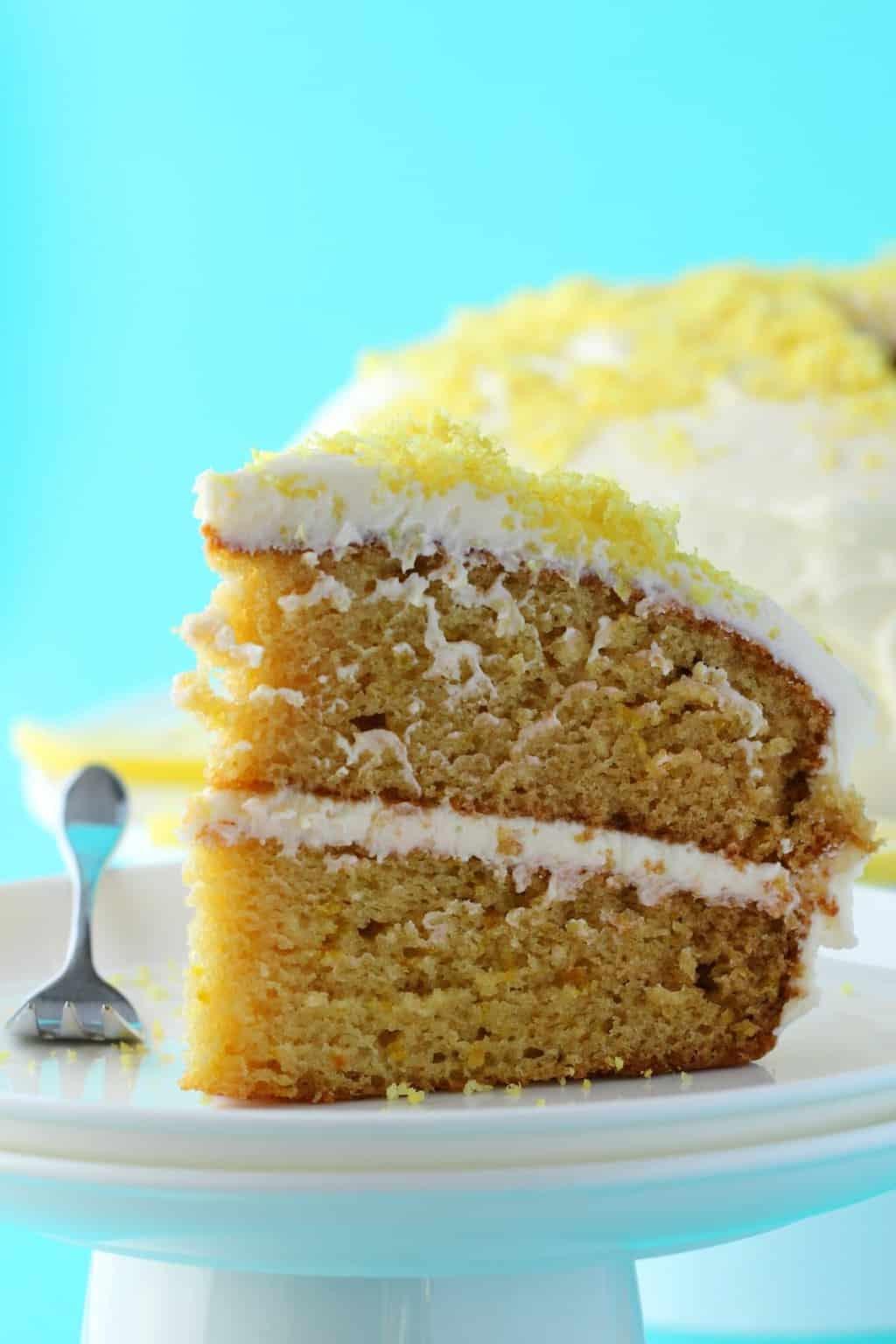 Vegetarian Lemon Cake Recipe  Vegan Lemon Cake Spongey 2 Layer Dream Cake Loving It