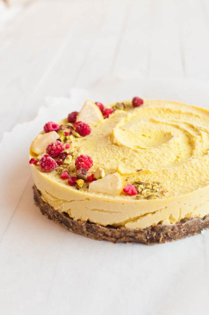 Vegetarian Lemon Cake Recipe  Raw Vegan Lemon Cheesecake