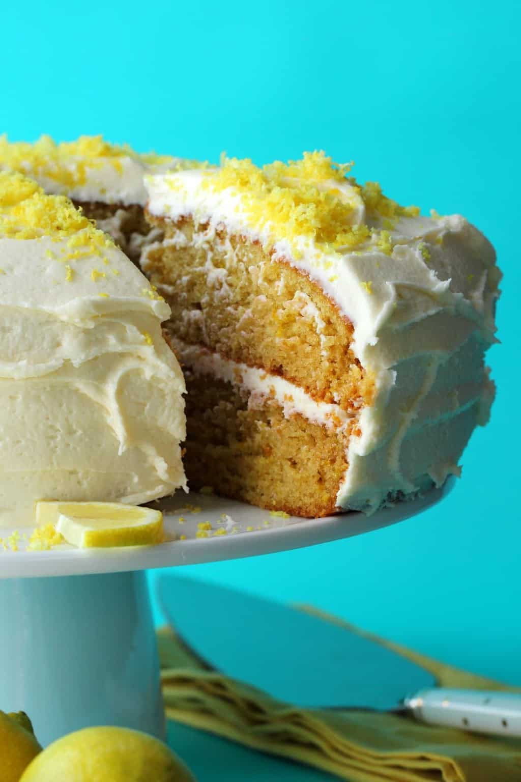Vegetarian Lemon Cake Recipe  The Best Vegan Lemon Cake Loving It Vegan
