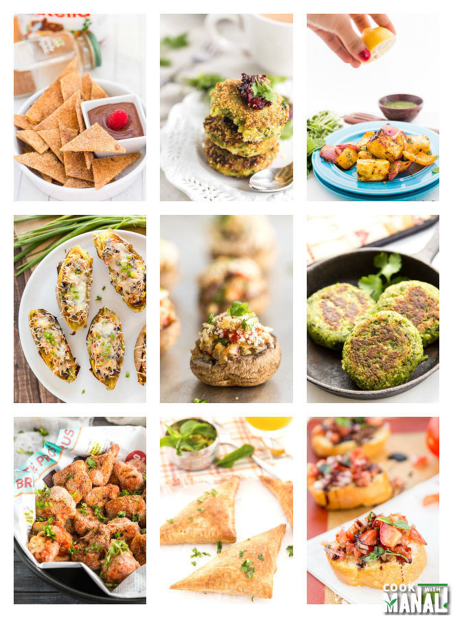 Vegetarian New Year Eve Recipes  14 Ve arian Appetizers for New Year s Eve Cook With Manali