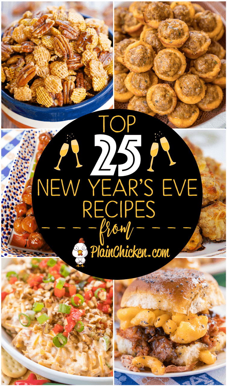 Vegetarian New Year Eve Recipes  Top 25 New Years Eve Party Recipes Plain Chicken