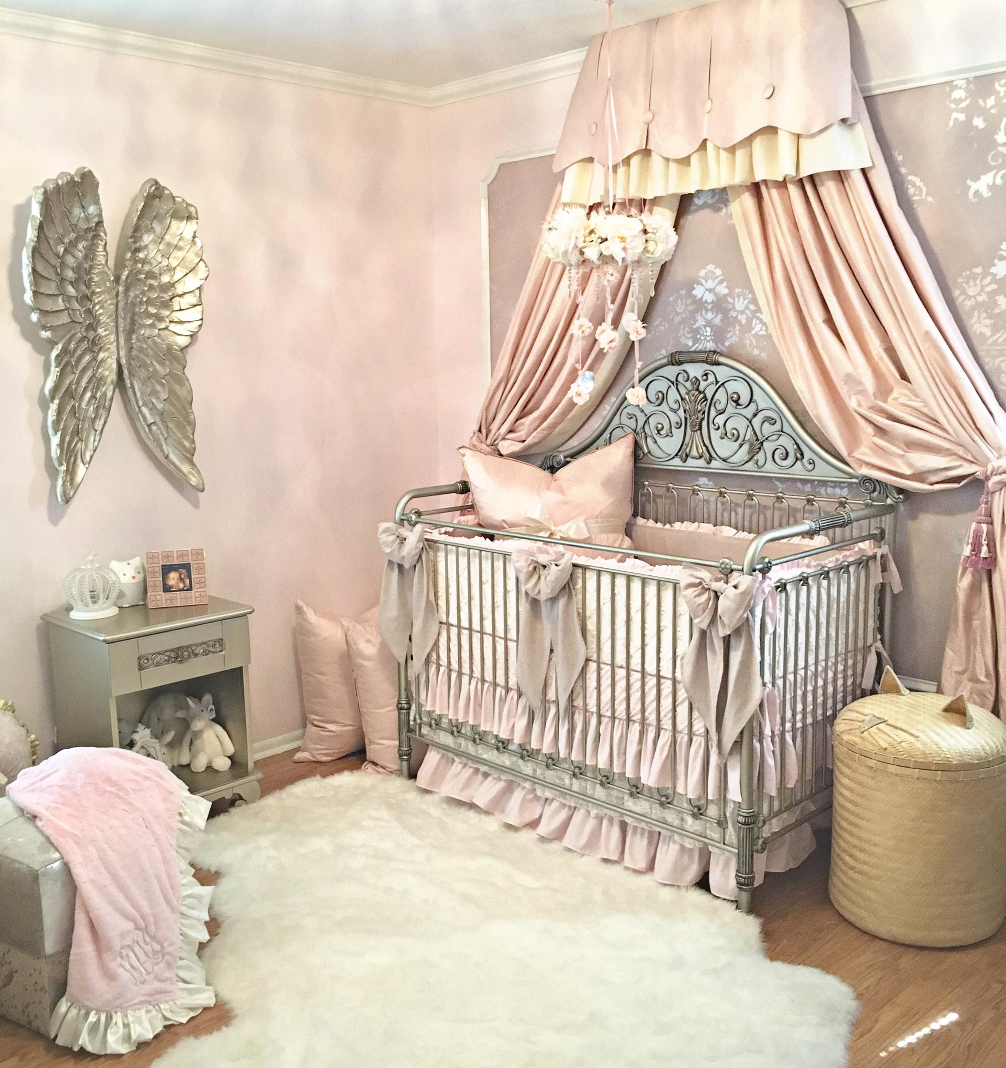 Vintage Baby Nursery Decor  Harlow s Vintage Glam Blush Nursery Project Nursery