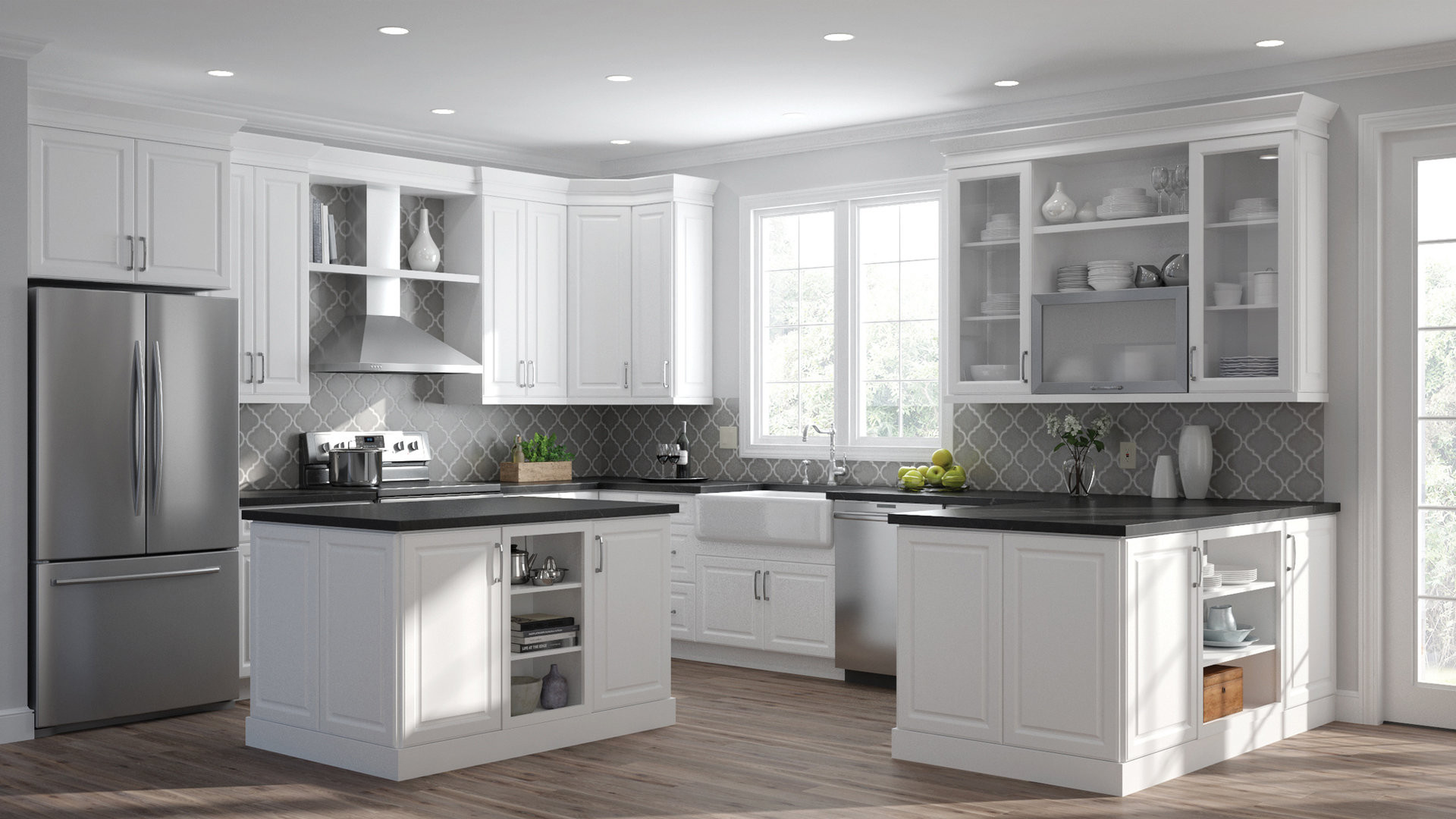Wall Cabinet Kitchen  Elgin Wall Cabinets in White – Kitchen – The Home Depot